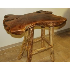 Teak Log Bar Table