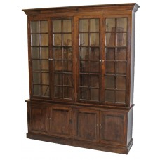 Brown Double Section Bookcase