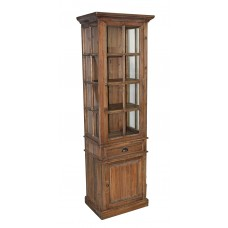 JJ-1308 Pine Glass Cabinet