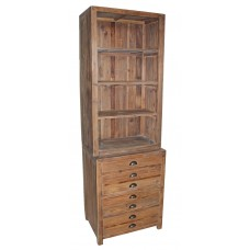 JJ-1498 Narrow Open Bookcase