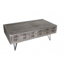 jj-1772 modern pine 2-drawer coffee table