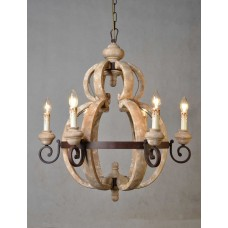 3147-cnd Old World 6-Light Chandelier
