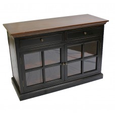 Black 2-Drawer Sideboard with 2 Doors