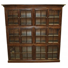Oak 12 Door Bookcase SD-044-1
