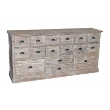 TH-16W 16-Drawer Reclaimed Pine Dresser