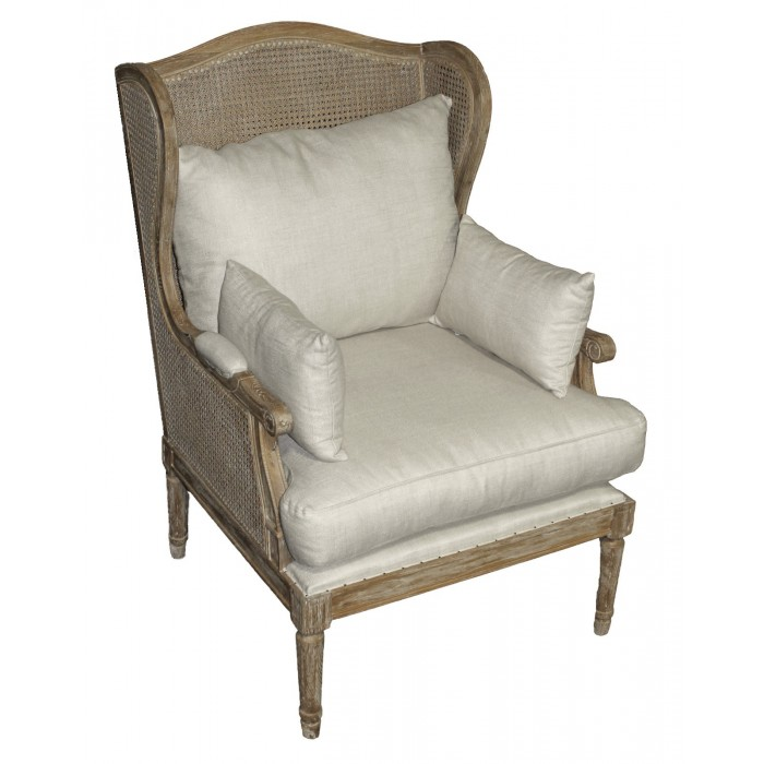 Nash Cane Wing Chair