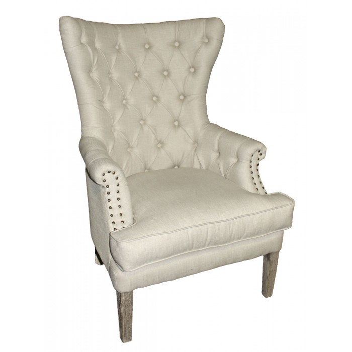 Pate Tufted Wing Chair