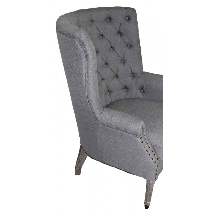 Banks Tufted Wing Chair