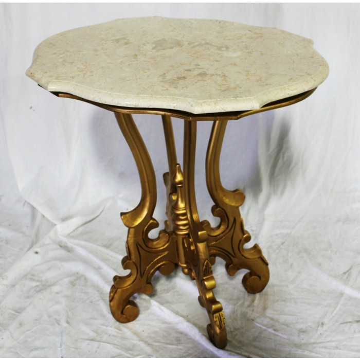 Turtle Table with Marble Top