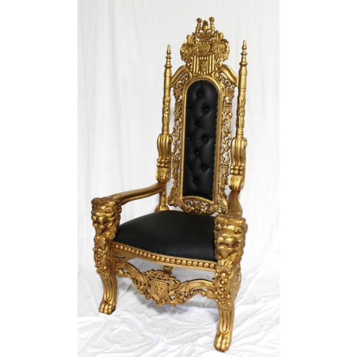 Gold/Black Lion King Throne