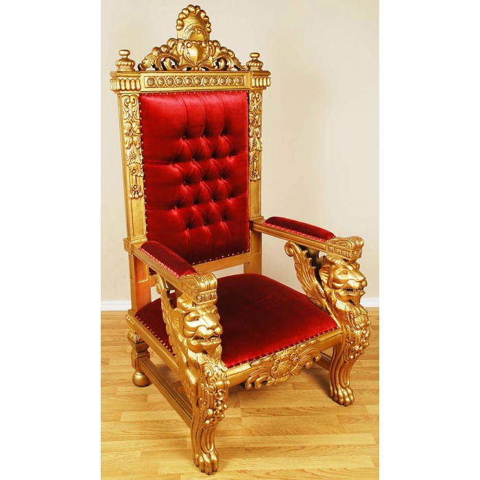 Gold/Red Sphynx Chair