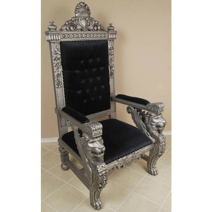Silver/Black Sphynx Chair