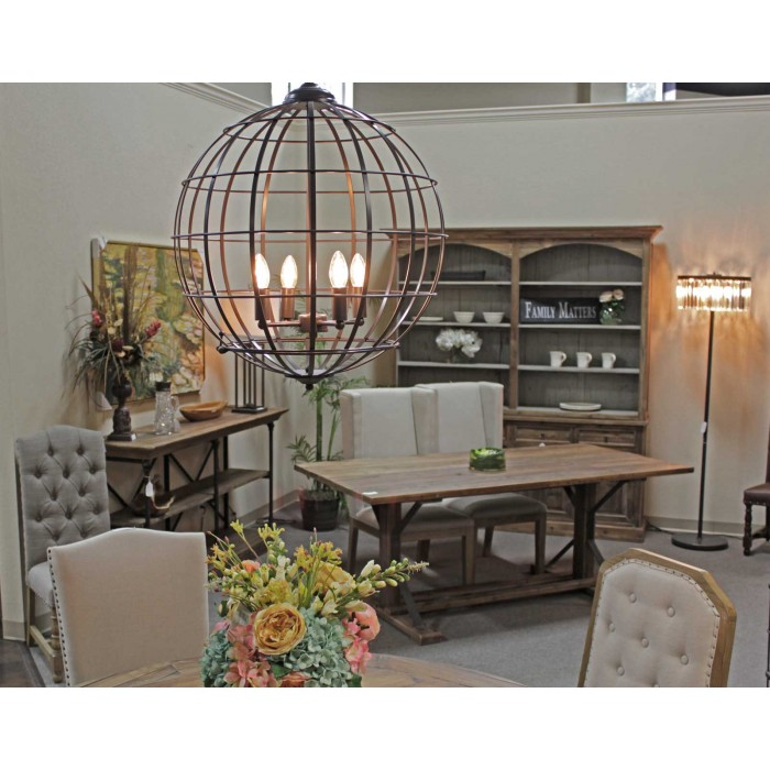 7004-cnd Cage 4-Light Chandelier