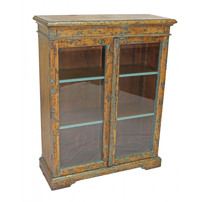 Bookcase with 2 Glass Doors