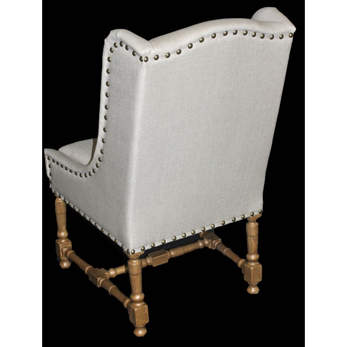 IC193N Linen wing side chair
