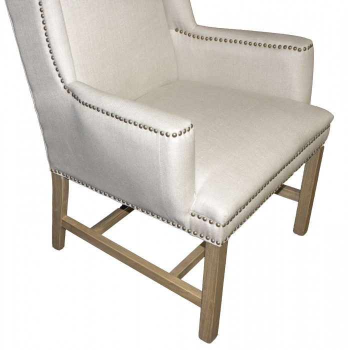 linen wing back chair