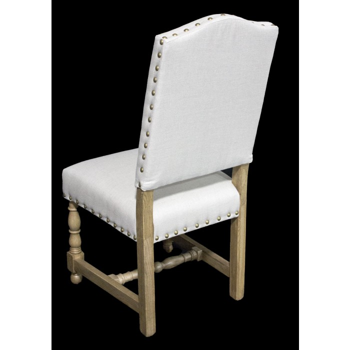 White Fabric Side Chair