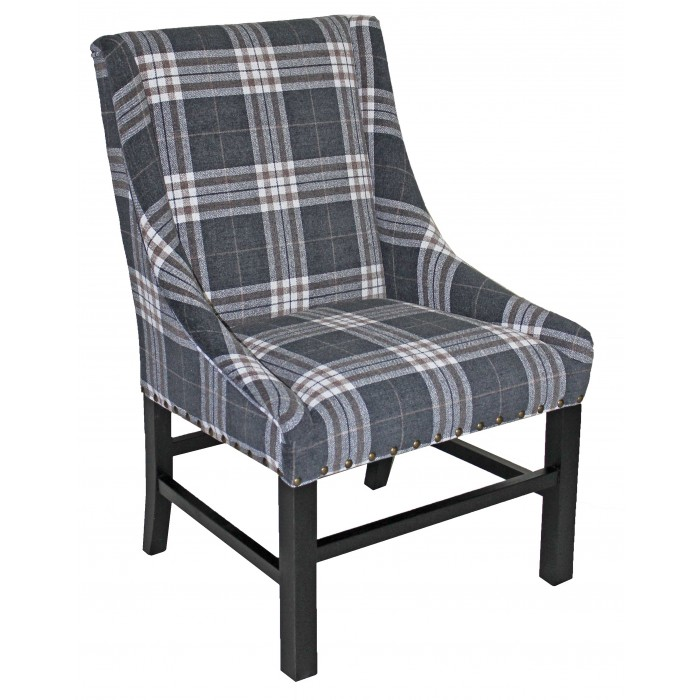 IC340 Charcoal Check Chair