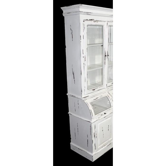 IN-59-WHT White 4-Door Large Showcase