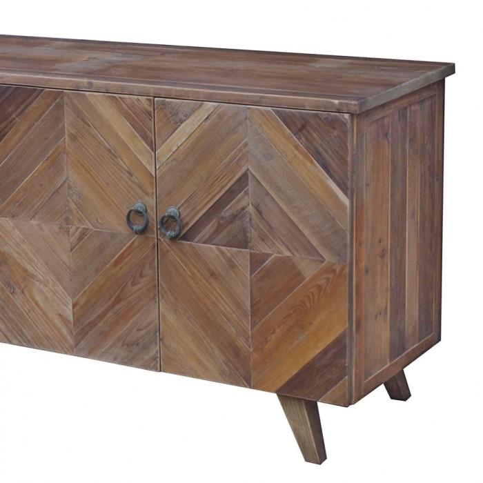 jj-1728 Reclaimed pine 4-door modern sideboard