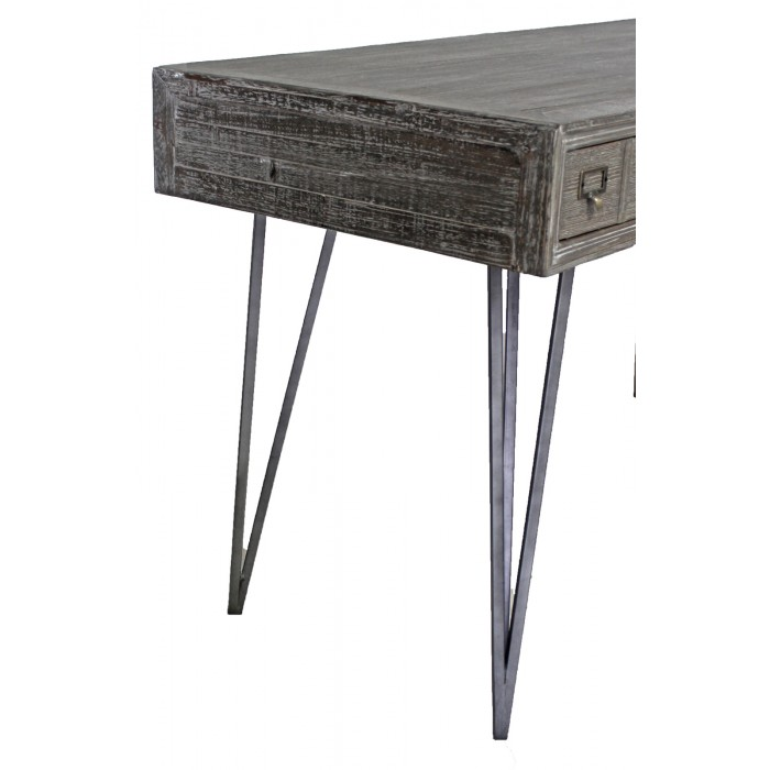 jj-1774 modern pine 3-drawer desk