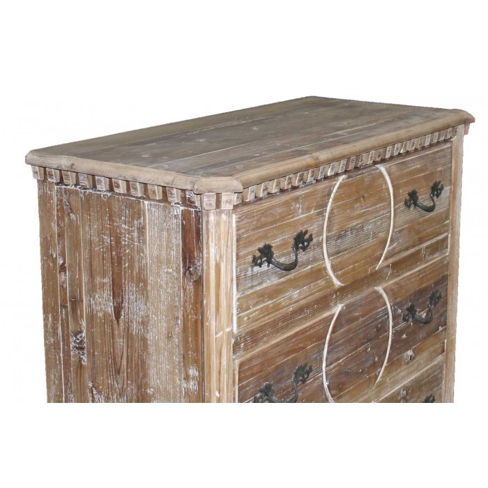 jj-Q1778 carved pine chest