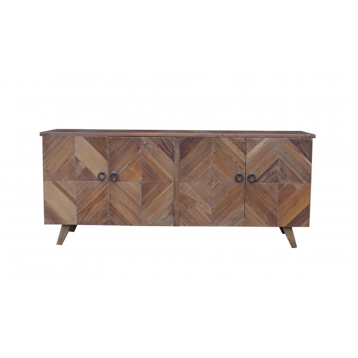 jj-1728 Reclaimed pine 4-door modern sideboard