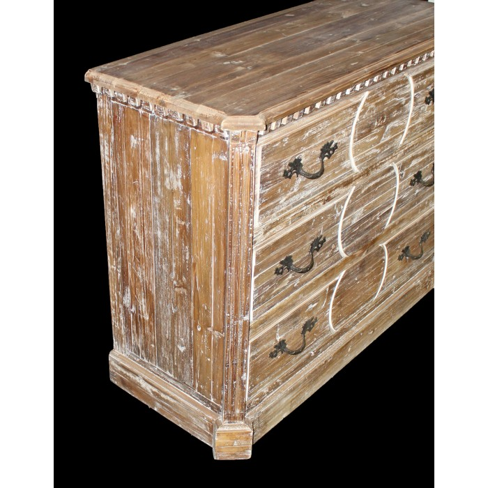 JJ-1791 3-drawer Carved Chest