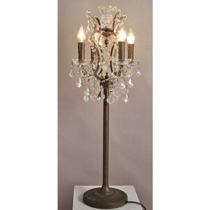 2081-TBL Ornate Crystal Table Lamp
