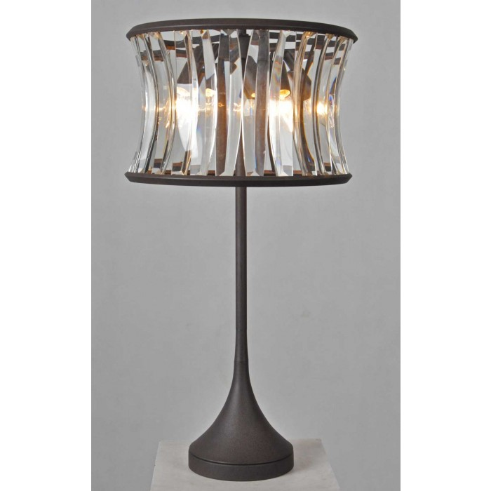 2154-tbl Crystal Round Table Lamp