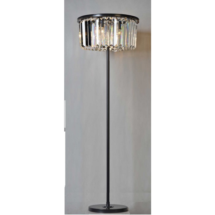 3033-FLR Crystal Round Floor Lamp