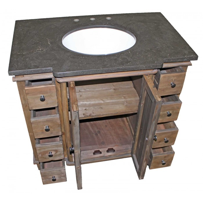 Bluestone Reclaimed 8-Drawer Vanity