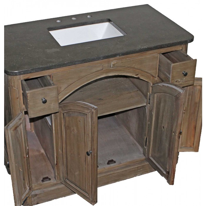 th-08 Bluestone Reclaimed 4-Door Vanity