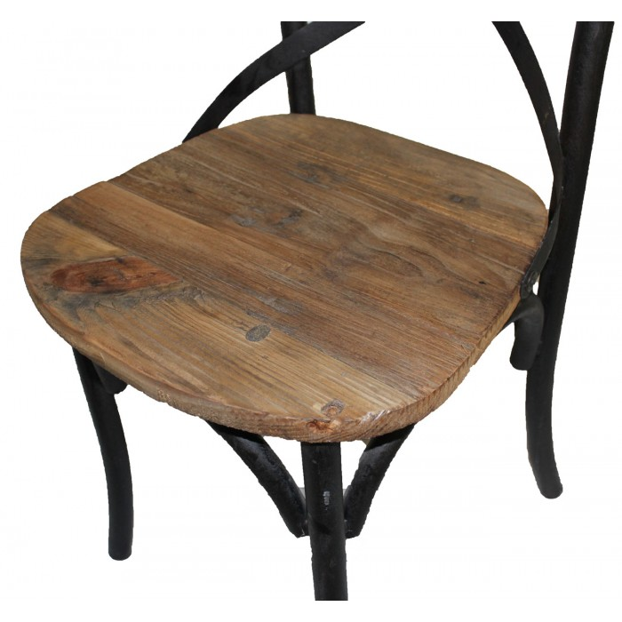 iron and pine chair