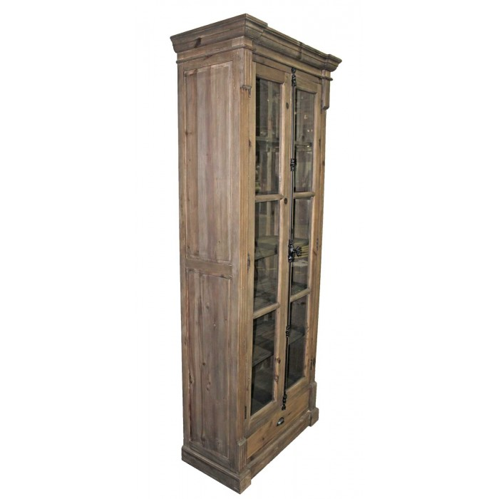 TH-814 pine narrow bookcase
