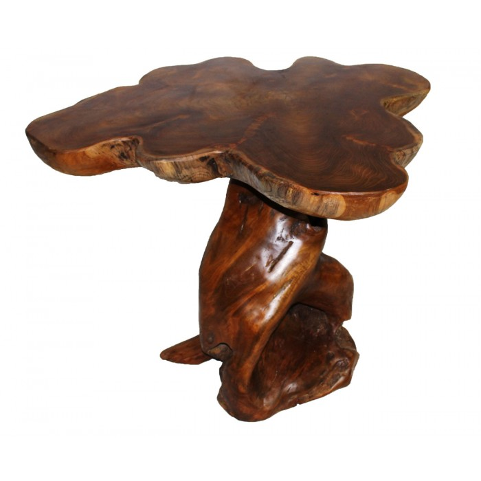 Teak Stump Side Table