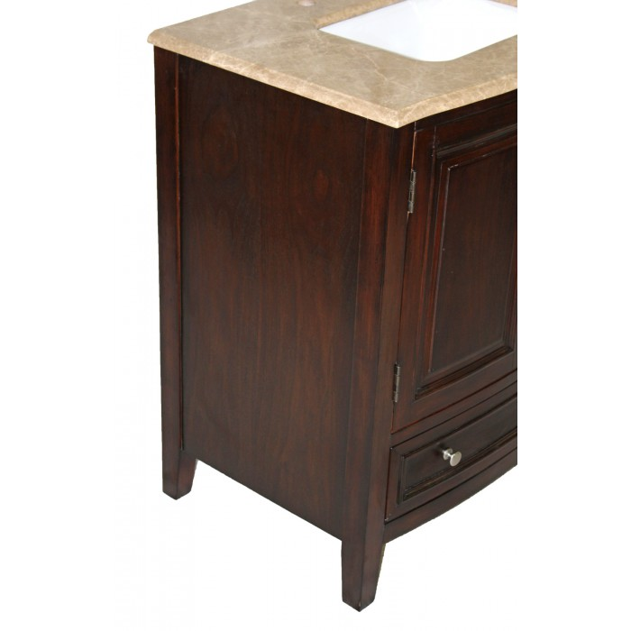 WF-B3332 Single Brown Vanity Sink