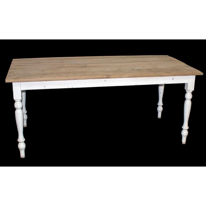 Turned Leg Reclaimed Dining Table